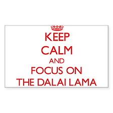 Keep Calm and focus on The Dalai Lama Decal
