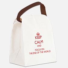 Unique End world Canvas Lunch Bag