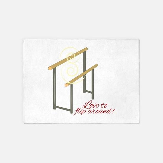 Love To Flip 5'x7'Area Rug