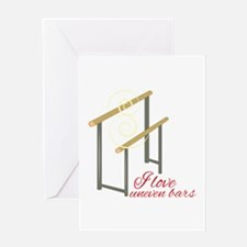 Love Uneven Bars Greeting Cards