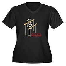 Uneven Champion Plus Size T-Shirt