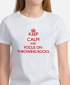 Keep Calm and focus on Throwing Rocks T-Shirt