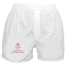 Cute I throw rocks houses Boxer Shorts