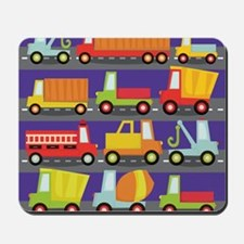 Trucks On The Highway Mousepad