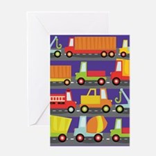Trucks On The Highway Greeting Cards