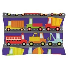 Trucks On The Highway Pillow Case