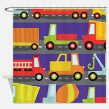 Trucks On The Highway Shower Curtain