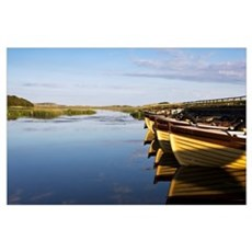 Boat Reflections In Water, Dunfanaghy, County Done Poster
