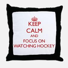 Cute Live love hockey Throw Pillow