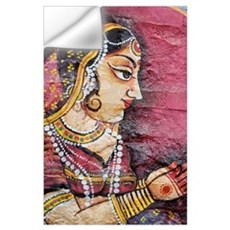 Traditional Painting On A Wall, Jodhpur, Rajasthan Wall Decal