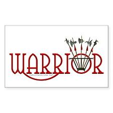 Warrior Sticker (Rect.)