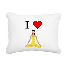 Funny Peace love massage Rectangular Canvas Pillow