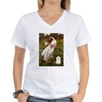 Windflowers & Bolognese Women's V-Neck T-Shirt