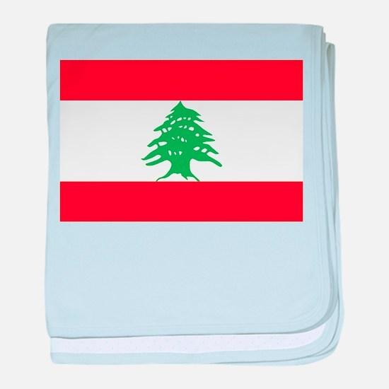 Flag of Lebanon baby blanket