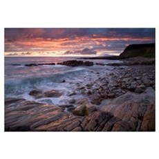 Sunset Over The Atlantic, Mullaghmore Head, County Canvas Art