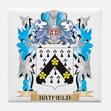 Cute Hatfield family crest Tile Coaster