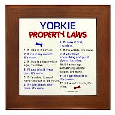 Yorkie Property Laws Framed Tile