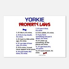 Yorkie Property Laws Postcards (Package of 8)