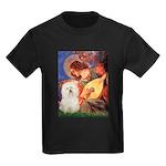 Mandolin Angel & Bolognese Kids Dark T-Shirt