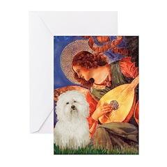 Mandolin Angel & Bolognese Greeting Cards (Pk of 1