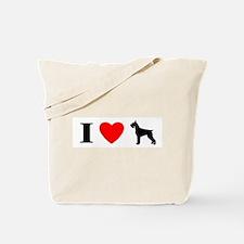 I Heart Giant Schnauzer Tote Bag