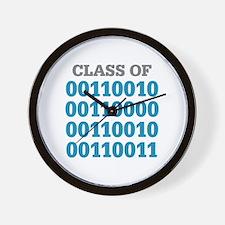 Class of 2023 Binary Wall Clock