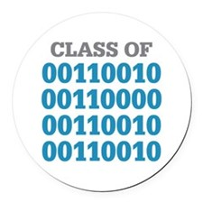 Class of 2022 Binary Round Car Magnet