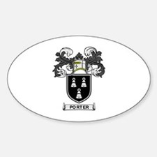 PORTER Coat of Arms Oval Decal