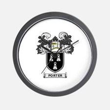 PORTER Coat of Arms Wall Clock