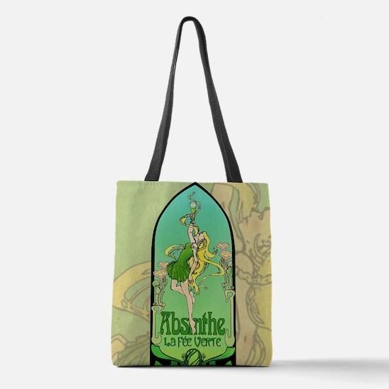 Absinthe Art Nouveau Polyester Tote Bag