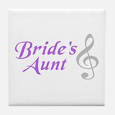 Bride's Aunt(clef) Tile Coaster