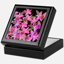 Orchid Flowers Keepsake Box