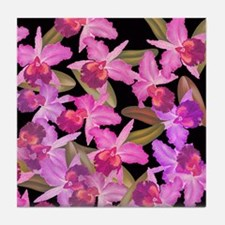 Orchid Flowers Tile Coaster