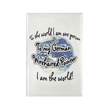 Wirehaired World2 Rectangle Magnet