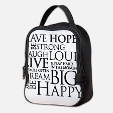 Cute Strength Neoprene Lunch Bag