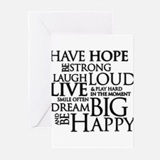 Be Strong Quotes Typography Greeting Cards