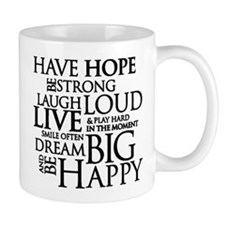 Be Strong Quotes Typography Mugs