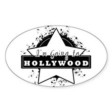 "I'm going to hollywood ""star"" Oval Decal"