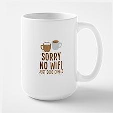 Sorry no WIFI just good coffee Mugs