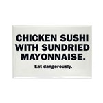 Chicken Sushi Rectangle Magnet
