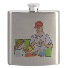 Signing Autographs Flask