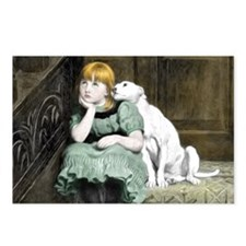 Cute Adore pit bull Postcards (Package of 8)