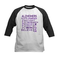 Alzheimers Support Word Cloud Baseball Jersey
