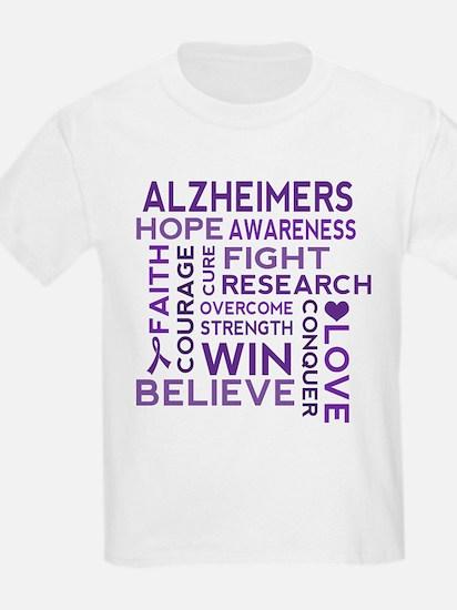 Alzheimers Support Word Cloud T-Shirt