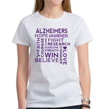 Alzheimers Support Word Cloud T-Shirt
