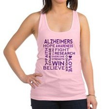 Alzheimers Support Word Cloud Racerback Tank Top