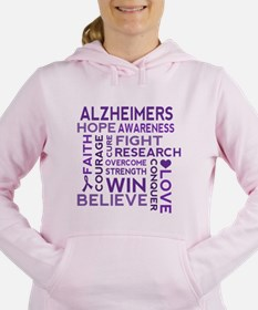 Alzheimers Support Word Cloud Women's Hooded Sweat