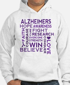 Alzheimers Support Word Cloud Hoodie