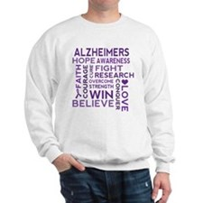 Alzheimers Support Word Cloud Sweatshirt
