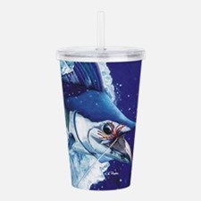 Blue Marlin Acrylic Double-Wall Tumbler